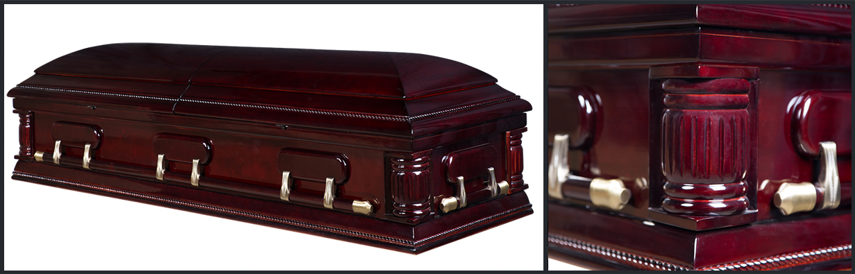 Poplar Wood Casket closed casket HW115