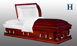 Cherry Wood Casket HW128