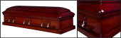 Imperial Mahogany wood casket closed casket