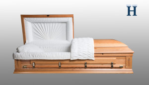 Oak Wood Casket HW113