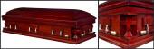 In God's Grace wood casket closed casket