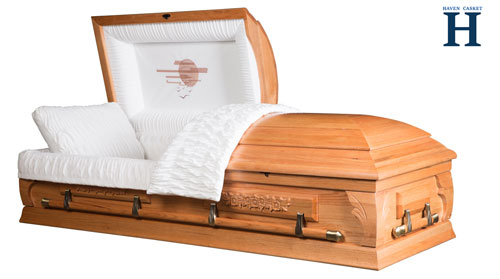 sunset oak casket hw111