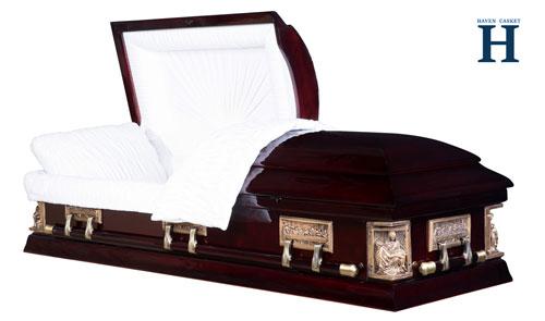 poplar wood casket hw120