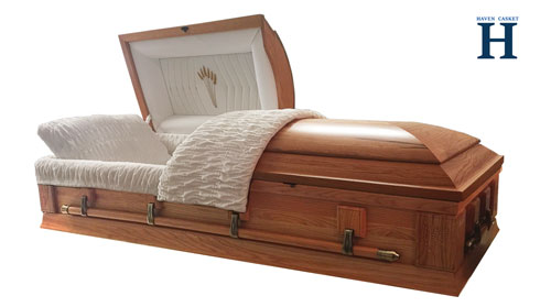 oak wood caskets hw112