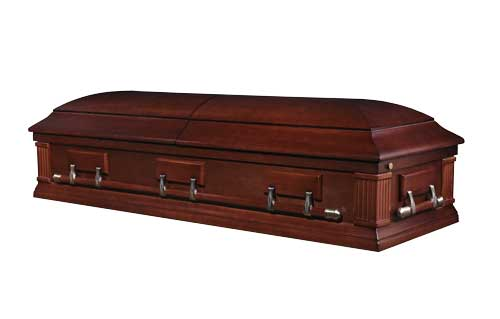 walnut wood funeral caskets