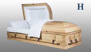 Ash Wood Casket HW101