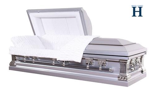 Majestic Silver casket