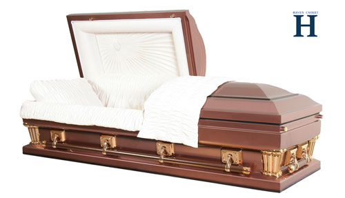 bronze metal casket mc110