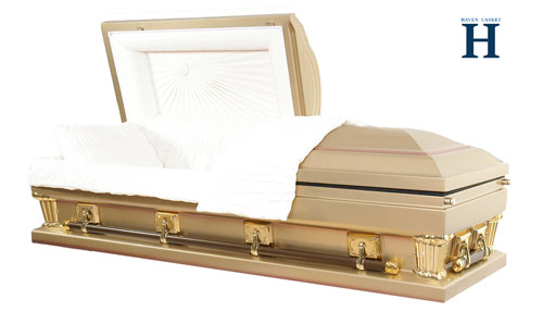 gold metal casket mc108