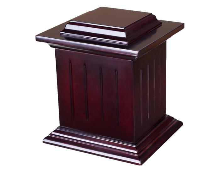 Solid Poplar Wood Urn WU101