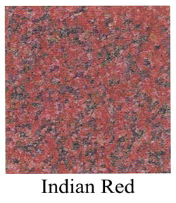 Indian red granite headstone