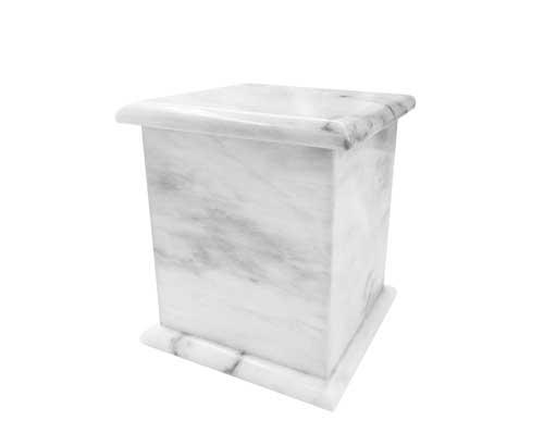 white cube urn