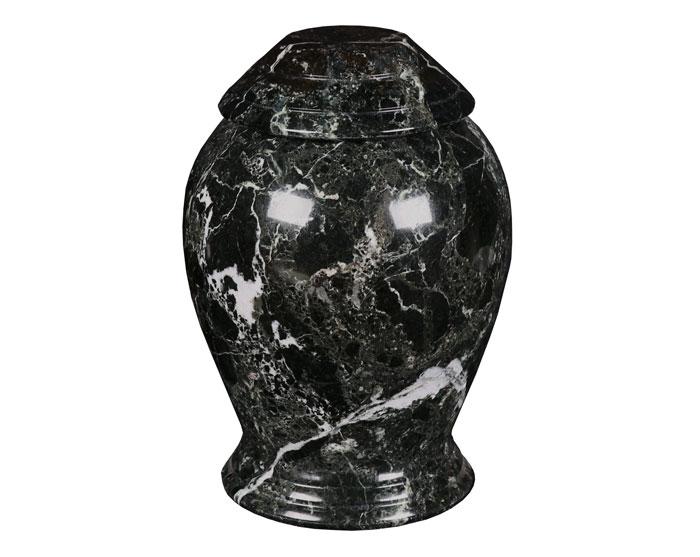 Black zebra urn MAU104