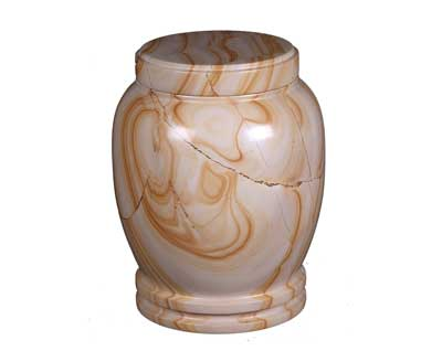 teakwood marble urn MAU109