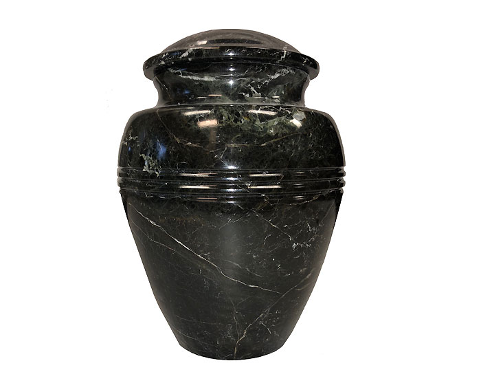 Black Zebra Marble Urn MAU217