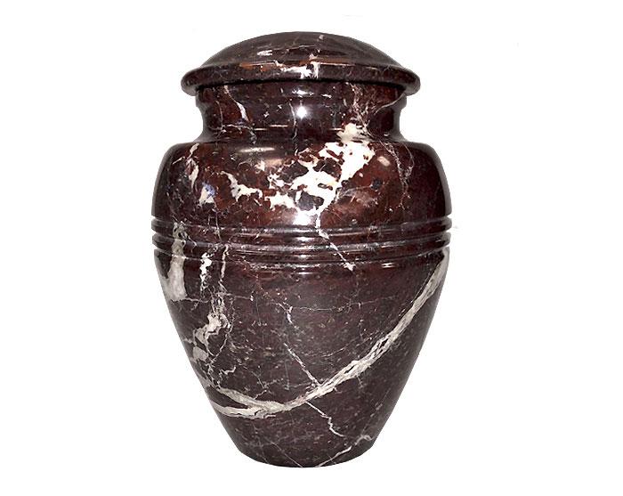Crimson Marble Urn MAU223