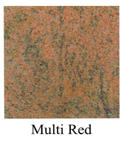 multired granite headstones