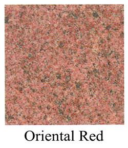 oriental red granite headstones