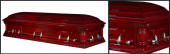 Cherry Veneer Casket HW208B