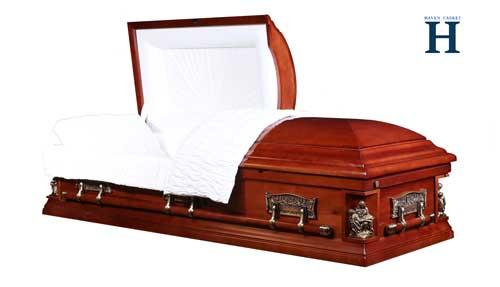 pieta cherry casket funeral caskets