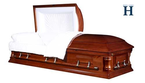 western walnut casket