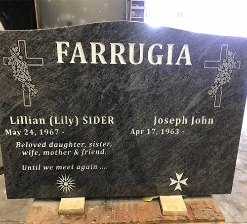 bahama blue lily headstone