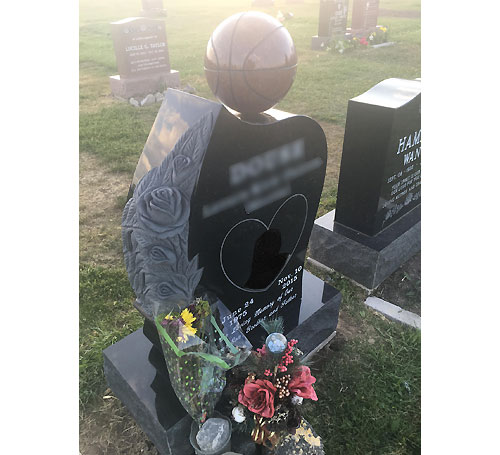 Custom Basketball Memorial Headstone
