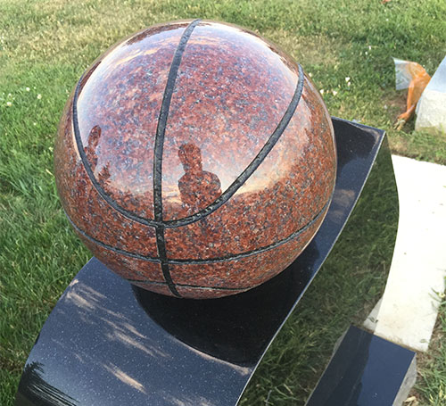 Basketball headstone Unique memorials