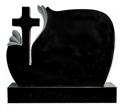 black cross headstone
