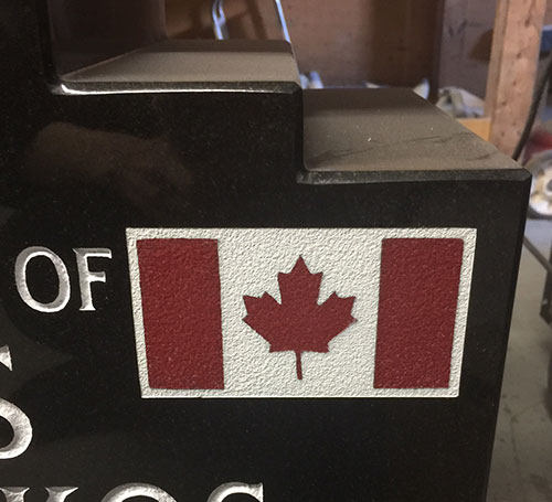 Canada Flag sandblast colour
