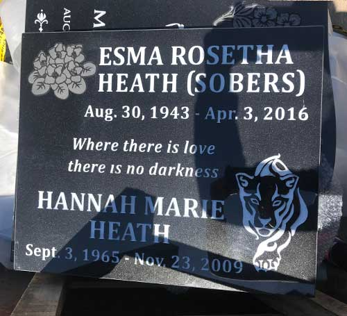 Flat Marker in Black Granite