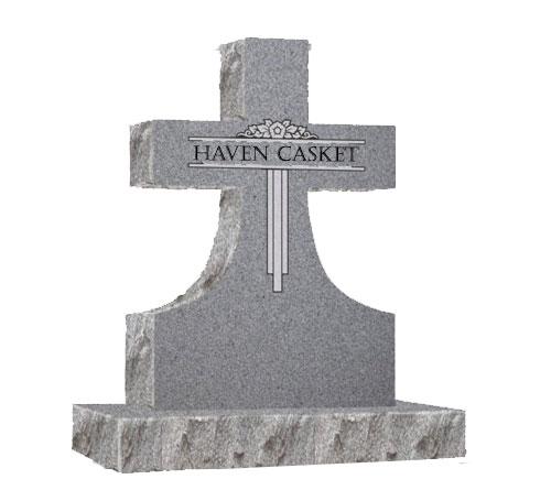 grey cross headstone