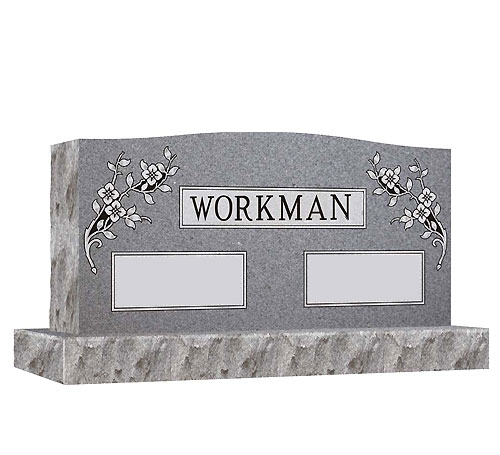 grey companion serpentine headstone