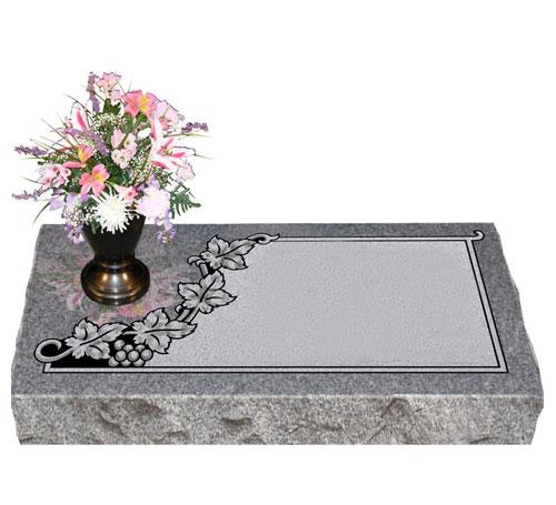 grey granite flat marker