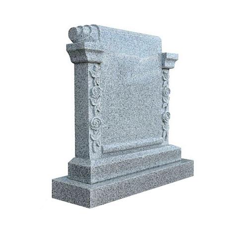 grey scroll headstone