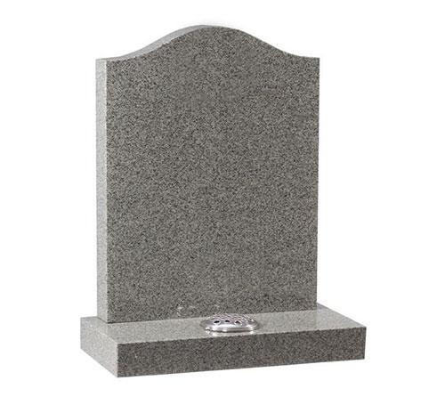 grey serpentine headstone