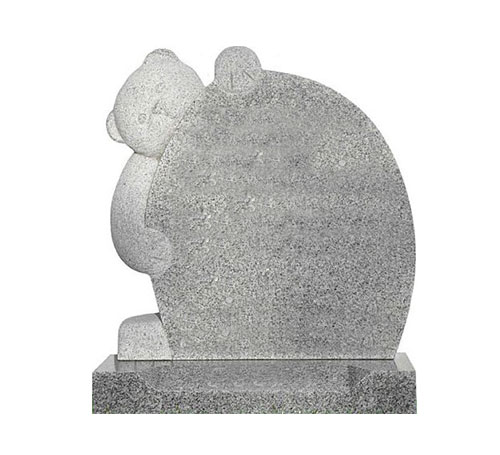 grey teddy headstone