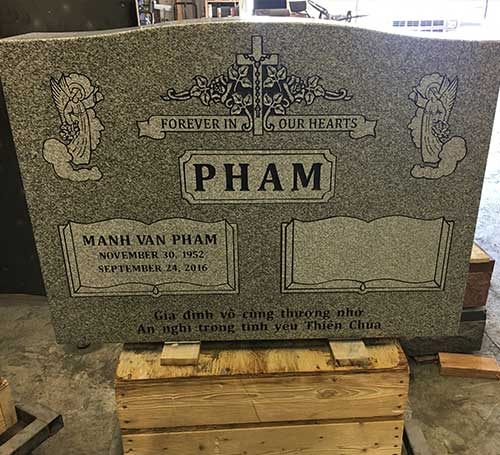 pham grey headstone