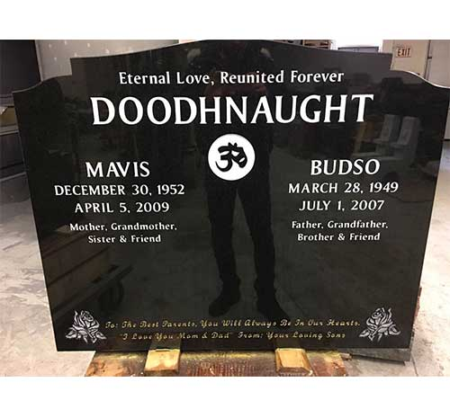 OG headstone in black