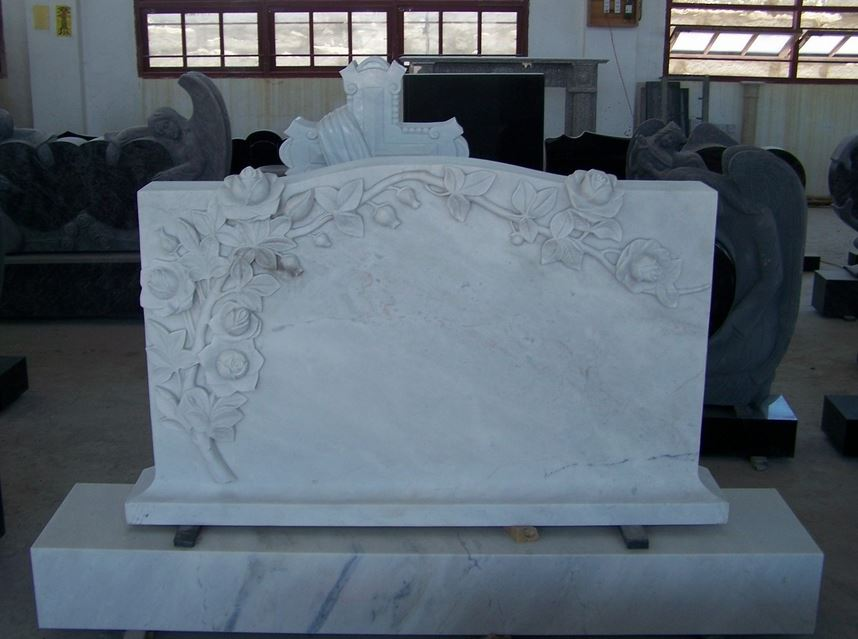 white pearl headstone
