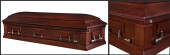 veneer walnut closed casket