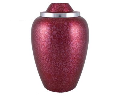 Red Metal Urn