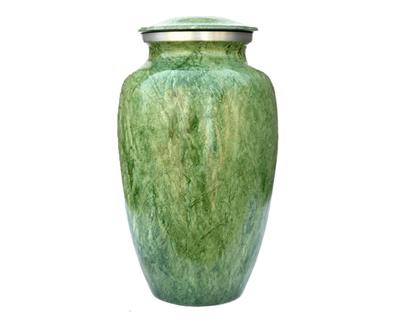 Green Metal Urn