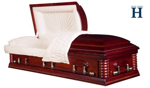 rosette mahogany casket