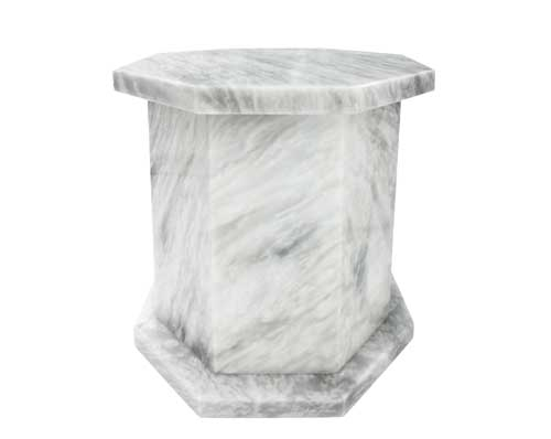Hexagon Marble Urn