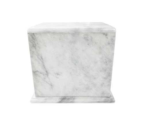 companion white marble urn