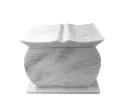 book marble urn