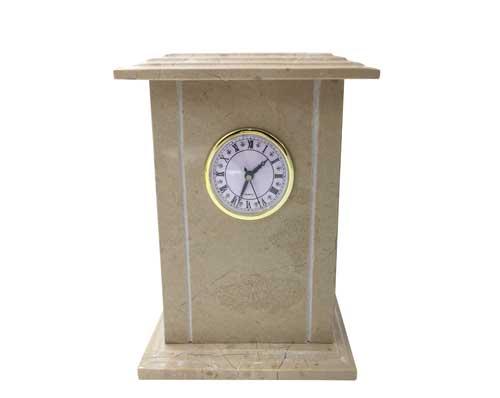 clock marble urn