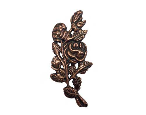 bronze roses ornament