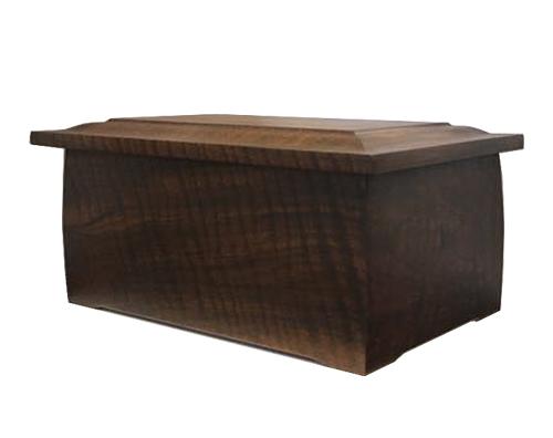 walnut wood urn